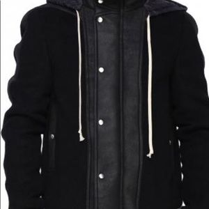 Rick Owens Men's Dustulator jacket W Shearling